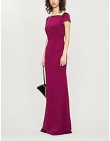 Roland Mouret Hepworth lace-embellished crepe maxi dress