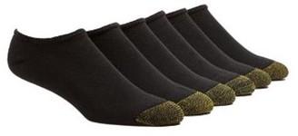 Gold Toe Men's Full Cushion Cotton No Show Socks, 6 Pairs