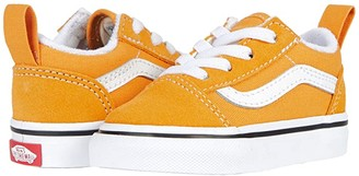 Vans Kids Old Skool Elastic Lace (Infant/Toddler) (Golden Nugget/True White) Kids Shoes
