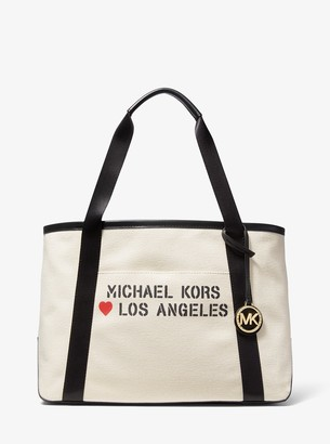 MICHAEL Michael Kors The Michael Large Canvas Los Angeles Tote Bag