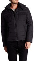 Kenneth Cole New York Hooded Zip Front Jacket
