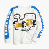 J.Crew Boys' long-sleeve metallic race car T-shirt