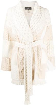 Alanui Fisherman Knit Belted Cardigan