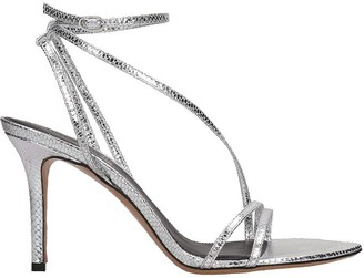 Isabel Marant Axee Sandals In Silver Leather