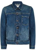 Topman Blue Cinch Back Denim Jacket