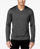 Alfani Men's Big & Tall Performance V-Neck Long-Sleeve T-Shirt, Only at Macy's