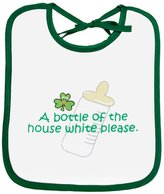Carrolls Irish Gifts Baby Bib 'a Bottle Of The House Please' Print