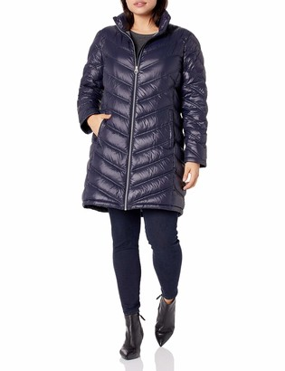 Calvin Klein Women's Chevron Packable Down Coat