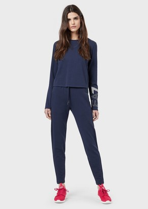 Emporio Armani Tracksuit With Sweatshirt And Joggers With Maxi Logo