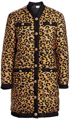 Gucci Disco Leopard-Print Long Puffer Coat