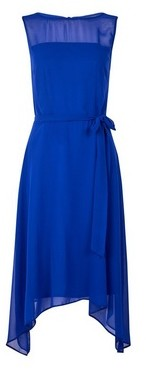 Dorothy Perkins Womens **Billie & Blossom Cobalt Sleeveless Hanky Hem Skater Dress, Cobalt