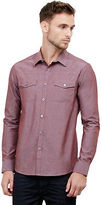 Kenneth Cole Long-Sleeve Military Chambray Shirt