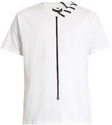 Craig Green Laced-neck cotton T-shirt