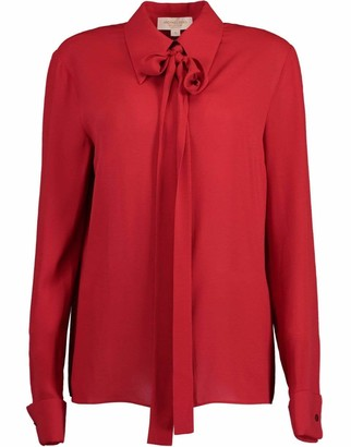 Michael Kors Collection Silk Georgette French Cuff Blouse