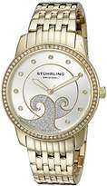 Stuhrling Original Women's 569.04 Coronet Analog Display Quartz Gold Watch