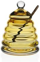William Yeoward Crystal Honeycomb Honey Jar and Spoon