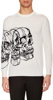 Alexander McQueen Skull Cashmere Crewneck Sweater