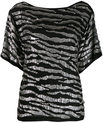 P.A.R.O.S.H. Sequin-Trim Top