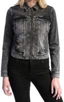 Liverpool Jeans Company Women's Front Zip Knit Denim Jacket