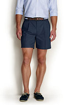 "Classic Men's No Iron 6"" Pleat Front Comfort Waist Chino Shorts-Steeple Gray"