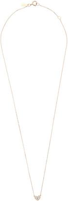 Adina Pave Folded Heart Pendant Necklace