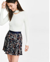 Express paisley print pleated mini skirt
