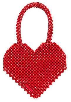 Loeffler Randall Women's Maria Heart Beaded Tote