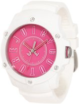 Juicy Couture 1900908 Women's Surfside Pink Dial White Silicon Strap Watch