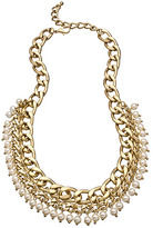 Blu Bijoux Gold Fantasy Pearl Bib Necklace
