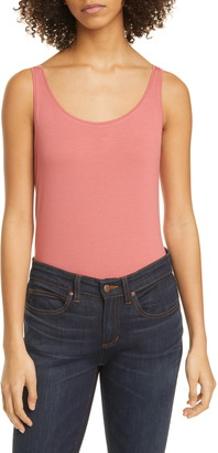Eileen Fisher Scoop Neck Slim Shell