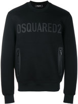 DSQUARED2 logo zipped pocket jumper