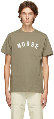 Norse Projects Khaki Niels Ivy Logo T-Shirt
