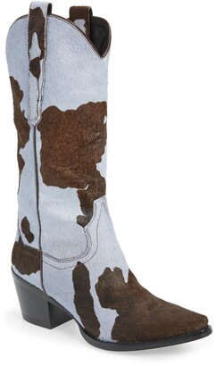 Jeffrey Campbell Dagget Genuine Calf Hair Western Boot