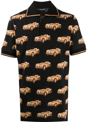 Dolce & Gabbana Car Print Polo Shirt