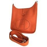 Hermes Evelyne leather shoulder bag.\n