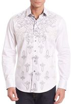 Robert Graham Embroidered Long Sleeve Shirt