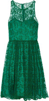 Badgley Mischka Embroidered tulle mini dress