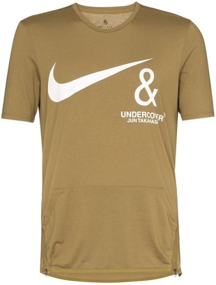 Nike X Undercover brown pocket detail T-shirt