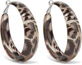 Kenneth Jay Lane Leopard-print enamel earrings