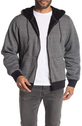 Heritage Long Sleeve Lined Faux Shearling Hoodie