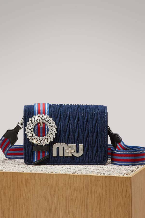 Miu Miu My Miu denim bag