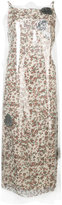 Calvin Klein floral layered dress