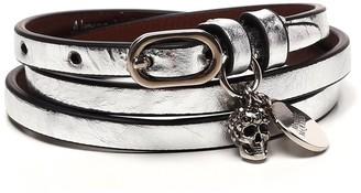 Alexander McQueen Skull Charm Wrap Bracelet