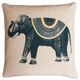 Thro Ezra Elephant Square Throw Pillow in Reflecting Pond