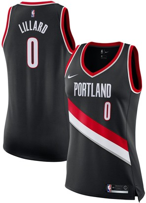 Nike Women's Damian Lillard Black Portland Trail Blazers Swingman Jersey - Icon Edition