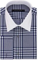 Sean John Men's Classic/Regular Fit Slate Blue Check Dress Shirt