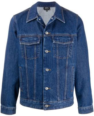 A.P.C. Flap-Pocket Denim Jacket