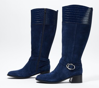 Marc Fisher Wide Calf Leather Tall Shaft Boots - Hailin