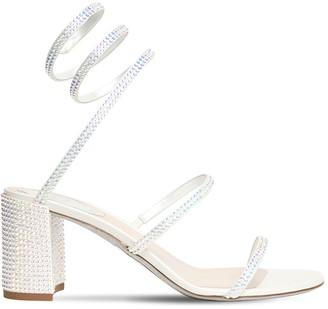 Rene Caovilla 65mm Embellished Satin Sandals