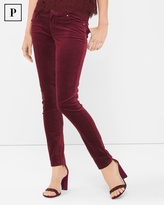 White House Black Market Velvet Skinny Jeans